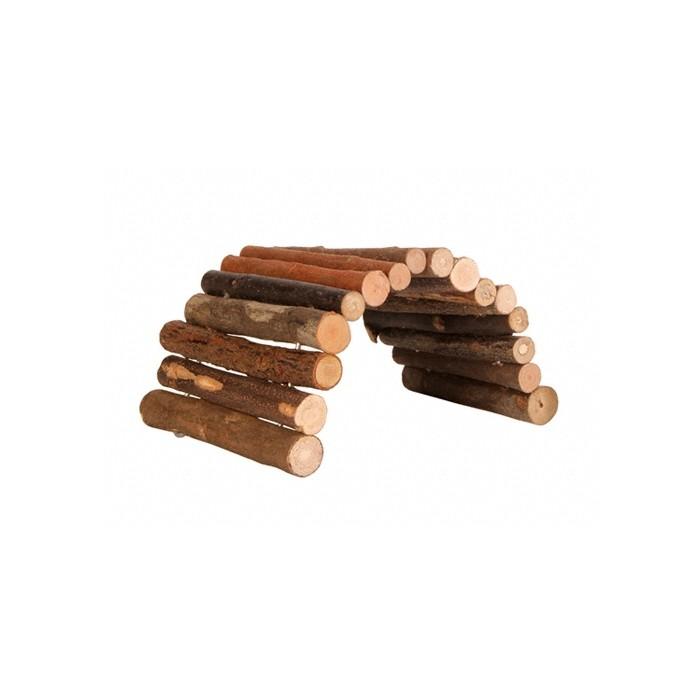 Jouet pour rongeur - Pont en bois naturel pour rongeurs