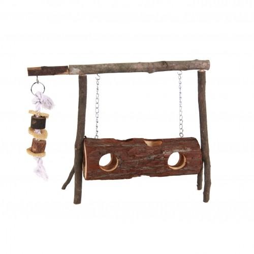 Jouet pour rongeur - Balançoire en bois pour rongeurs