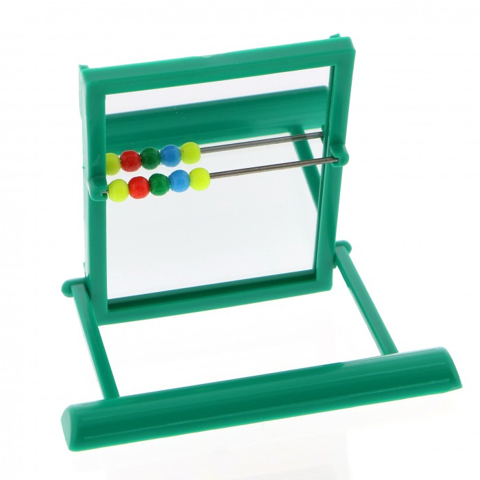 Miroir avec perchoir jouet pour oiseau wanimo for Miroir en plastique