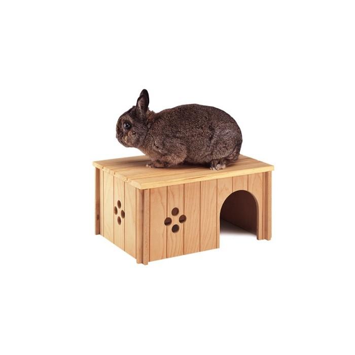 Maison en bois d me et maison pour gros rongeur for Maison dome en bois