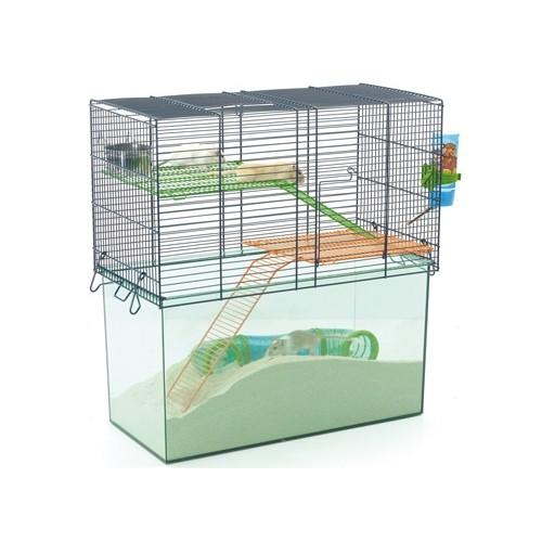 Cage, clapier et enclos rongeur - Cage Habitat Metro pour rongeurs