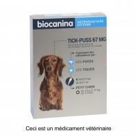 Anti-puces et tiques pour chien - Pipettes Tick Puss Biocanina