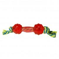 Jouet pour chien - Jouet Haltère avec corde Burly Wouapy