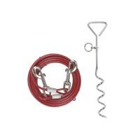 Accessoire d'attache pour chien - Piquet d'attache en acier avec câble Kerbl
