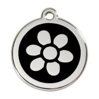 Médaille à personnaliser - Médaille personnalisable motif Fleur Red Dingo