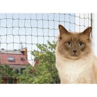 Accessoires de sécurité pour chat - Filet de sécurité pour balcon vert olive Trixie