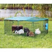 Enclos pour lapins - Enclos Natura extérieur avec filet Trixie