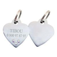 Sélection St Valentin - Médaille personnalisée Coeur avec strass