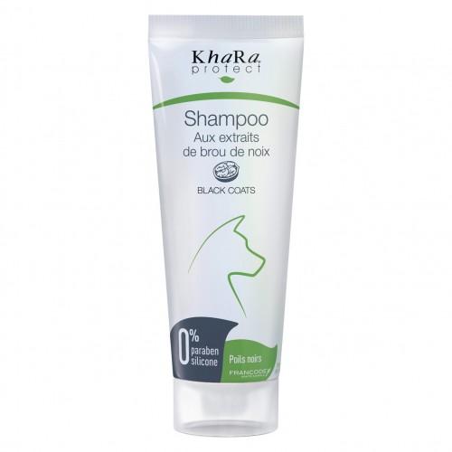Shampooing pour chien - Shampooing poils noirs aux extraits de brou de noix Khara