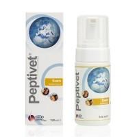 Mousse nettoyante antiseptique sans rinçage - Peptivet Mousse MP Labo