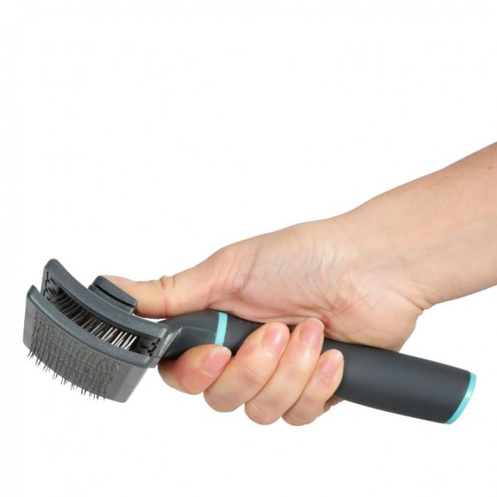Shampooing et toilettage - Brosse Anah Slicker rétractable pour chien pour chiens