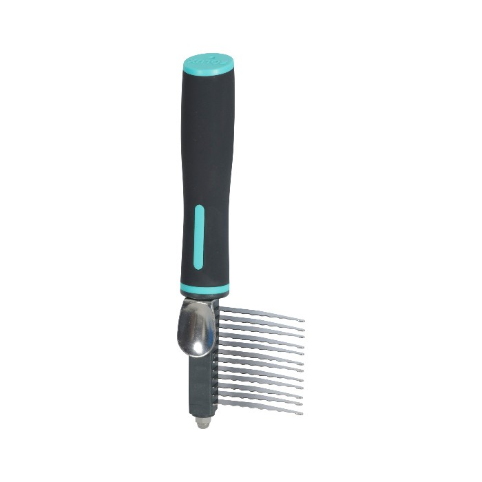 Shampooing et toilettage - Peigne démêloir 12 lames sécurisées Anah pour chiens