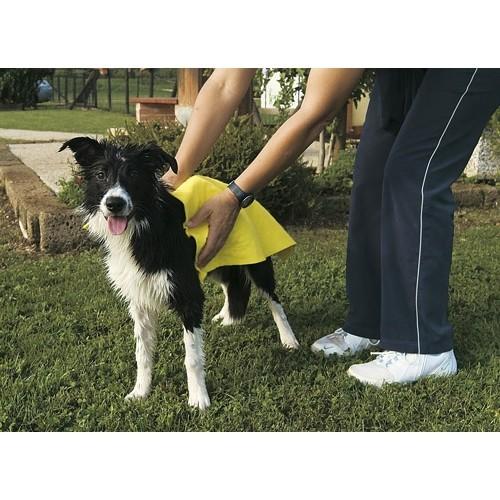 Shampooing et toilettage - Serviette hyper-absorbante pour chiens
