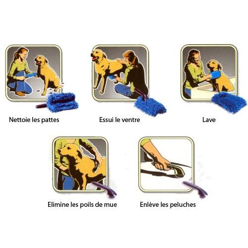 Shampooing et toilettage - Essuie-pattes Paw Cleaner 5 en 1 pour chiens