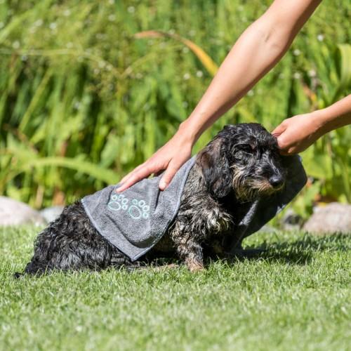 Shampooing et toilettage - Serviette de séchage en microfibre pour chats