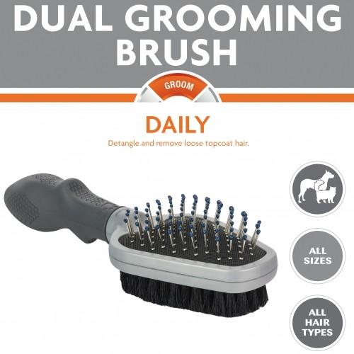 Shampooing et toilettage - Double brosse pour chiens
