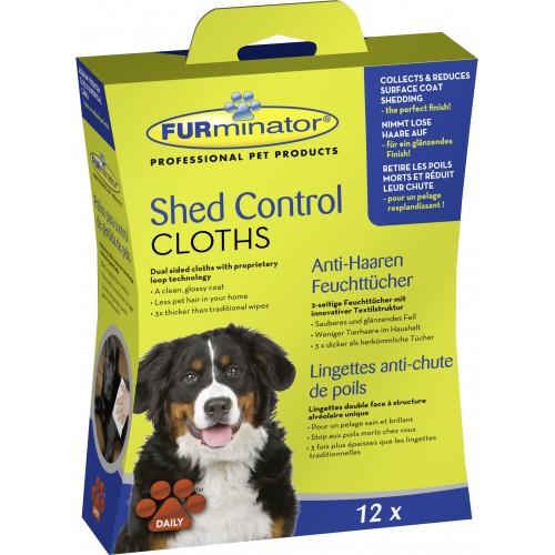 Soin et hygiène du chien - Lingettes anti-mue Shed Control pour chiens