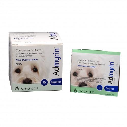 Soin et hygiène du chien - Admyrin Compresses oculaires pour chiens