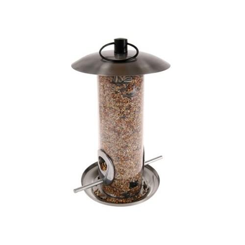 SOLDES GIVRÉS ! - Mangeoire silo 2 fenêtres pour oiseaux