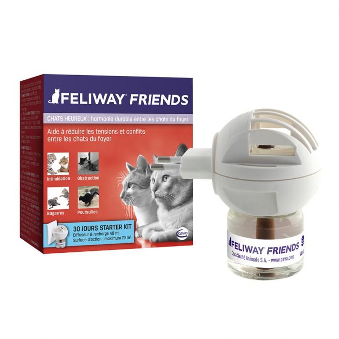 Stress, comportement chat - Feliway Friends diffuseur et recharges pour chats