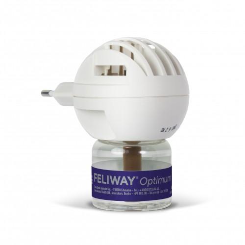 Stress, comportement chat - Feliway® Optimum diffuseur + recharge (kit complet) pour chats
