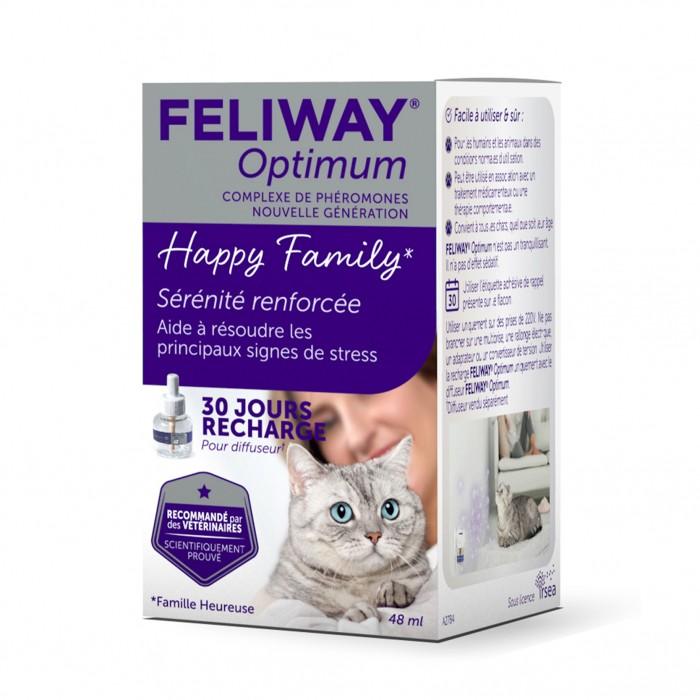 Stress, comportement chat - Feliway® Optimum recharge pour chats