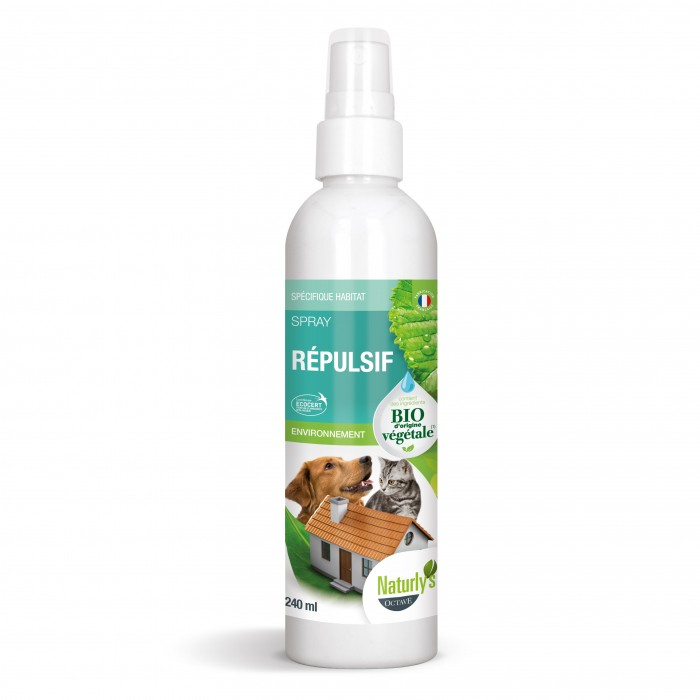 Stress, comportement chien - Spray Bio répulsif chien et chat pour chiens