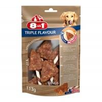 Friandises à mâcher pour chien - Ailes de poulet Triple Flavour 8in1