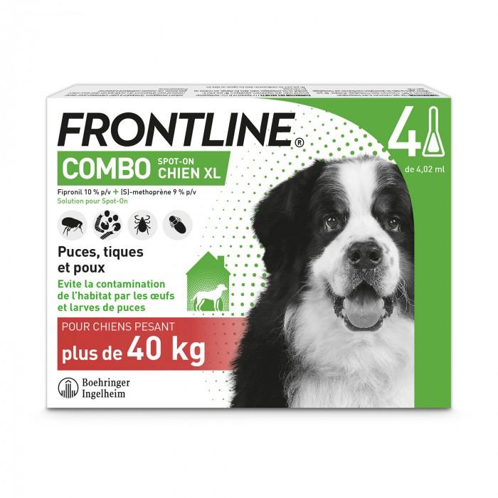 Tiques, puces & vers - Frontline Combo Chien pour chiens