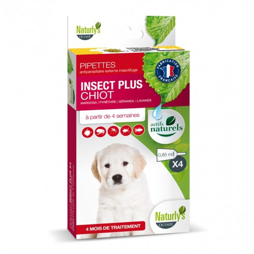 Tiques, puces & vers - Pipettes Insect Plus Chiot pour chiens