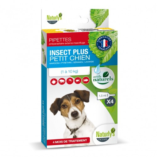Tiques, puces & vers - Pipettes Insect Plus Chien pour chiens