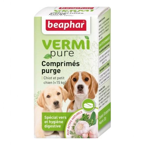 Tiques, puces & vers - Vermipure Comprimés Purge pour chiots et chiens de petite race pour chiens