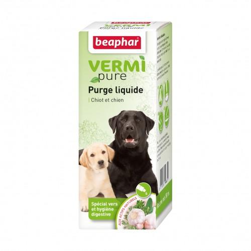 Tiques, puces & vers - Vermipure purge liquide pour chien pour chiens