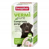 Tiques, puces & vers - Vermipure Comprimés Purge pour chien de moyenne et grande race