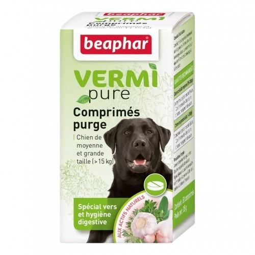 Tiques, puces & vers - Vermipure Comprimés Purge pour chien de moyenne et grande race pour chiens