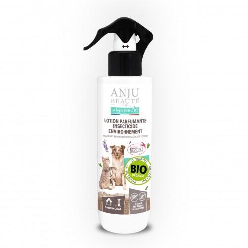 Tiques, puces & vers - Lotion parfumante insecticide environnement pour chiens