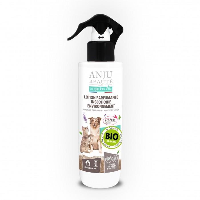 Tiques,  puces & vers - Lotion parfumante insecticide environnement pour chats