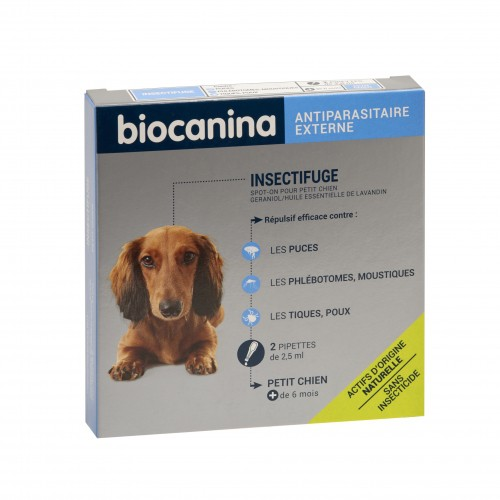Tiques, puces & vers - Pipettes Insectifuge naturel pour chiens