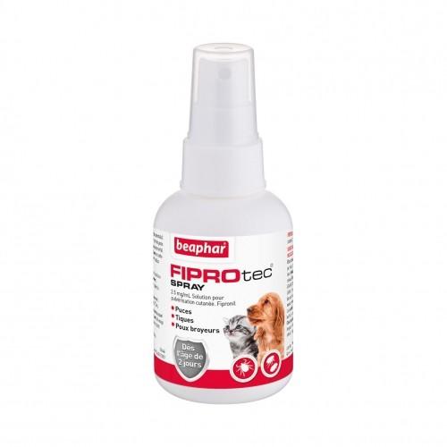 Tiques, puces & vers - Fiprotec Spray pour chiens