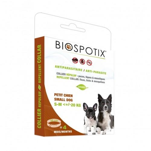 Tiques, puces & vers - Collier antiparasitaire Biospotix pour chiens