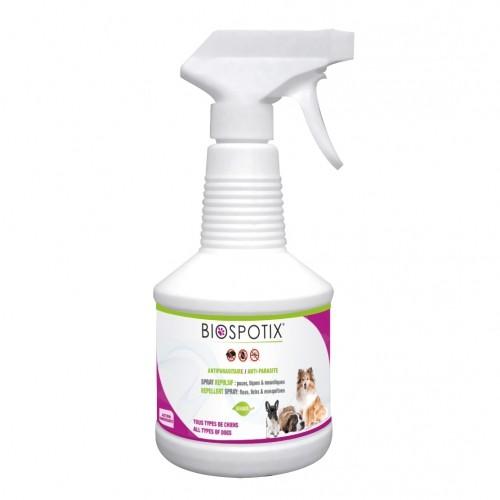 Anti-puces et tiques pour chien - Spray répulsif Biospotix