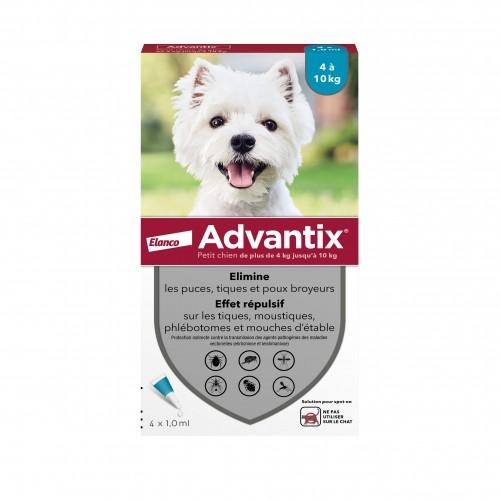 Tiques, puces & vers - Pipettes Advantix pour chiens