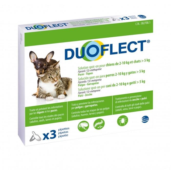 Tiques, puces & vers - Pipettes Duoflect pour chiens