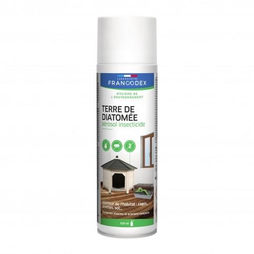 Tiques, puces & vers - Aérosol insecticide Terre de Diatomée pour rongeurs