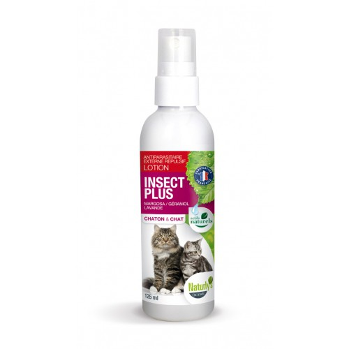 Tiques,  puces & vers - Lotion Insect Plus chat pour chats