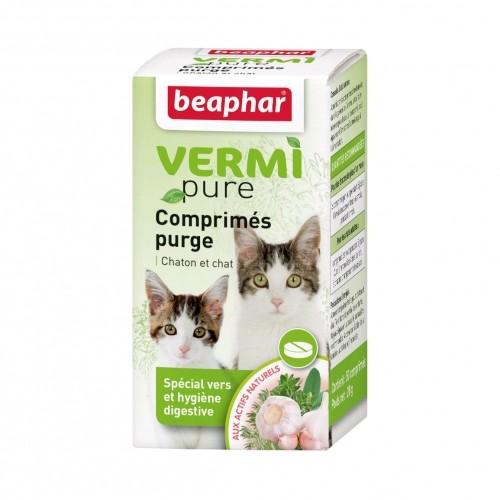 Tiques,  puces & vers - Vermipure Comprimés Purge pour chat pour chats