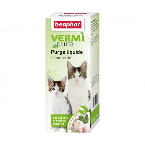 Tiques,  puces & vers - Vermipure purge liquide pour chat pour chats
