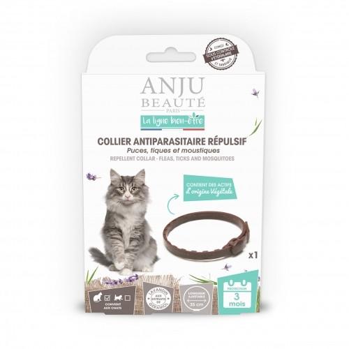 Tiques,  puces & vers - Collier antiparasitaire répulsif chat pour chats