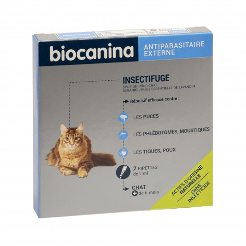 Tiques,  puces & vers - Pipettes Insectifuge naturel pour chats