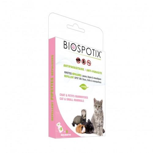 Tiques,  puces & vers - Pipettes Biospotix protection naturelle pour chats